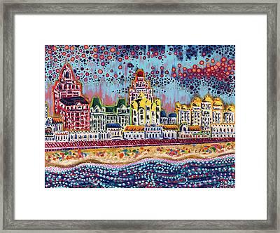 Sandcastles Framed Print by Christie Mealo