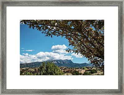 Sandias On A Summer Day Framed Print by Mary Lee Dereske