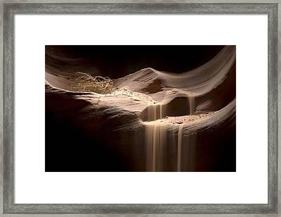 Sandfall Framed Print