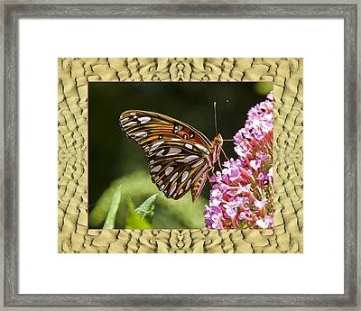 Framed Print featuring the photograph Sandflow Butterfly by Bell And Todd