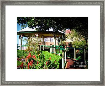 Sandgate Gazebo Framed Print
