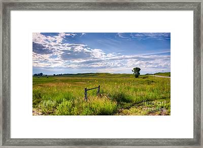 Sandhills Sky Framed Print
