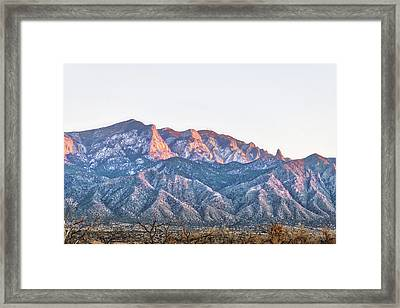 Sandia Gold Framed Print by Mark David Gerson