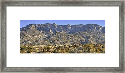 Sandia Mountain Panorama Framed Print