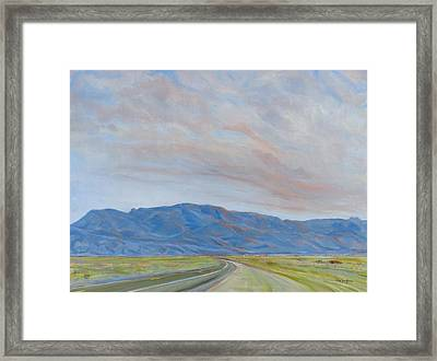 Sandia Sunset Framed Print