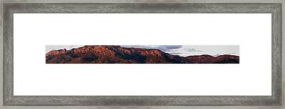 Sandia Sunset Panormaic Framed Print