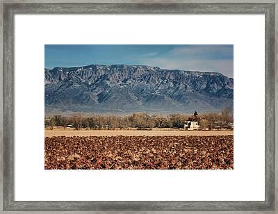 Framed Print featuring the photograph Sandias - Los Poblanos Fields by Nikolyn McDonald