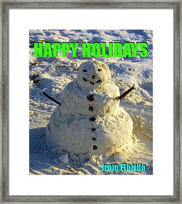 Sandman Holiday Card Framed Print by David Lee Thompson