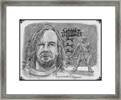 Sandor Clegane- The Hound Framed Print by Chris  DelVecchio