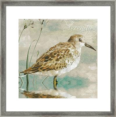 Sandpiper I Framed Print by Mindy Sommers