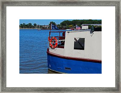 Framed Print featuring the photograph Sandpiper On The Maumee by Michiale Schneider