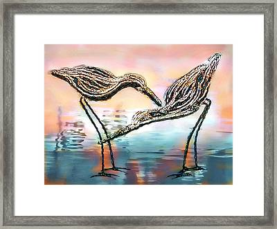 Sandpiper's Beach Sunset Framed Print