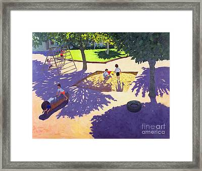 Sandpit Framed Print by Andrew Macara