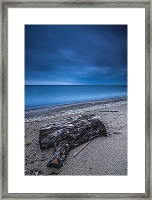 Sandpoint Beach Sunrise Framed Print