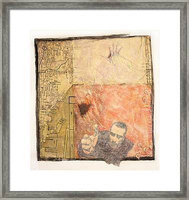 Framed Print featuring the painting Sandpoint by Geraldine Gracia