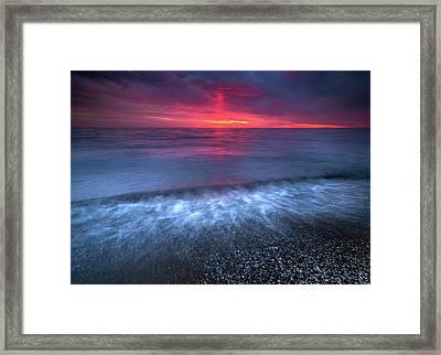Sandpoint Sunrise  Framed Print