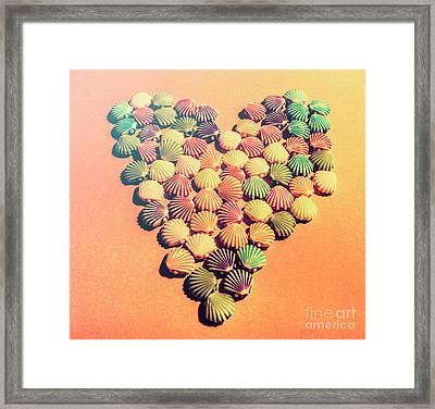 Sands Of Retro Love Framed Print