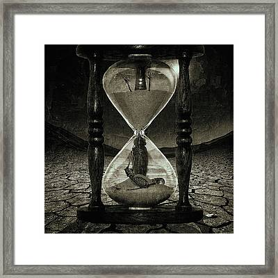 Sands Of Time ... Memento Mori - Monochrome Framed Print