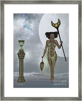 Sands Of Time Framed Print by Corey Ford