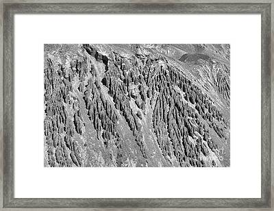 Sands Of Time Monochrome Art By Kaylyn Franks  Framed Print