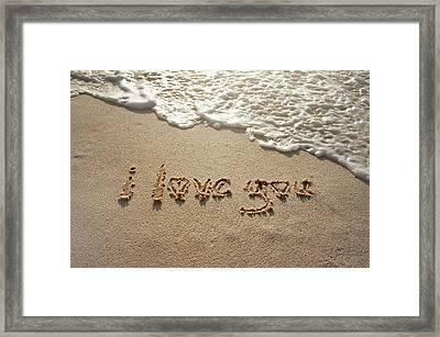 Sandskrit Framed Print