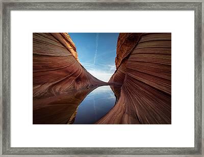 Sandstone And Sky Framed Print by James Udall