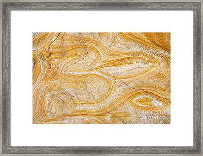 Sandstone Aum Framed Print by Tim Gainey