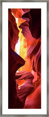Framed Print featuring the photograph  Sandstone Collection 1 Ablaze by Brad Scott