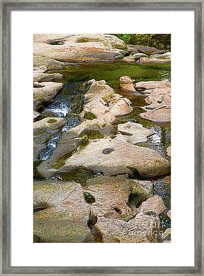 Framed Print featuring the photograph Sandstone Creek Bed by Sharon Talson