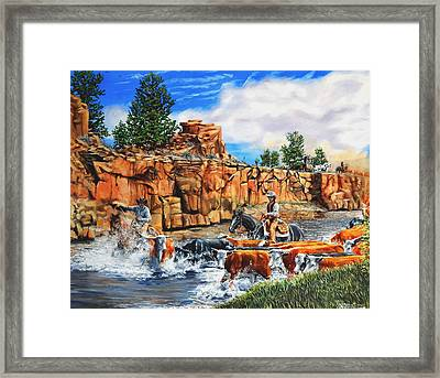 Sandstone Crossing Framed Print by Ruanna Sion Shadd a'Dann'l