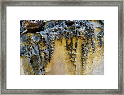 Framed Print featuring the photograph Sandstone Detail Syd01 by Werner Padarin