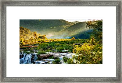 Sandstone Falls West Virginia - Paint Framed Print by Steve Harrington