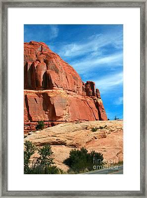 Sandstone Formations Arches National Park Framed Print