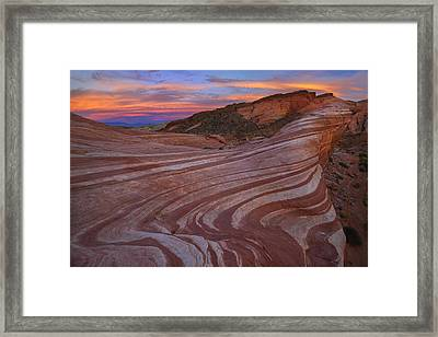 Sandstone Glory Framed Print by Christian Heeb