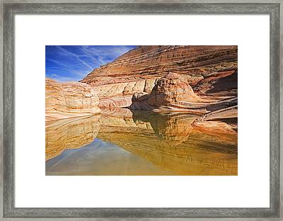 Sandstone Illusions Framed Print by Mike  Dawson