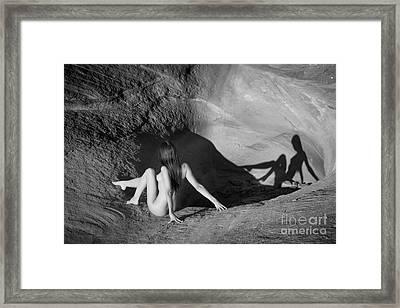 Sandstone Pinup Framed Print