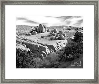 Sandstone Plateau Framed Print by Christian Slanec