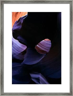 Sandstone Portal Framed Print by Mike  Dawson