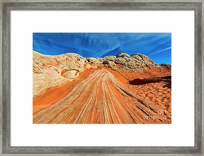 Sandstone Racetrack Framed Print by Mike Dawson