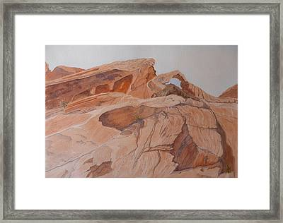 Sandstone Rainbow Framed Print by Joel Deutsch