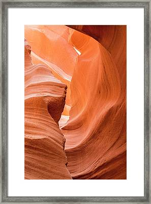 Framed Print featuring the photograph Sandstone Swirls  by Jeanne May