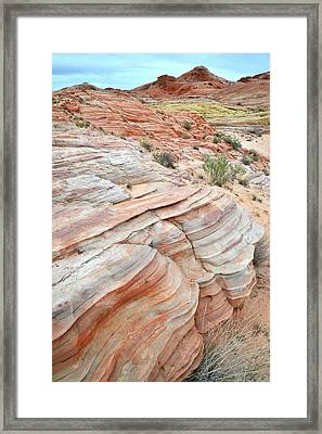Framed Print featuring the photograph Sandstone Wash In Valley Of Fire by Ray Mathis