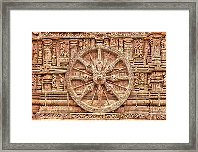 Sandstone Wheel - Hdr Framed Print by Nila Newsom