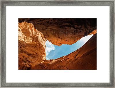 Sandstone With Blue Framed Print