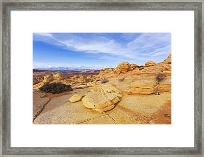 Sandstone Wonders Framed Print by Chad Dutson
