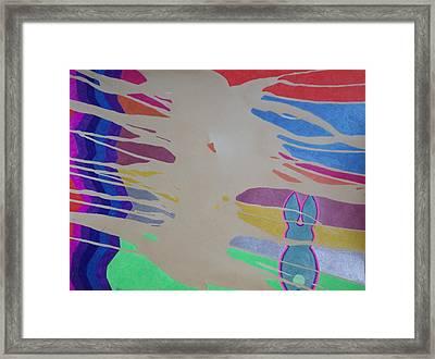 Sandstorm Rabbit Framed Print by Peter Adam