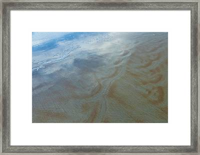 Sandy Beach Abstract Framed Print by Carolyn Marshall