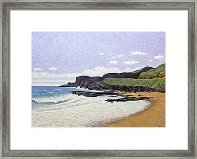 Sandy Beach Oahu Framed Print by Norman Engel