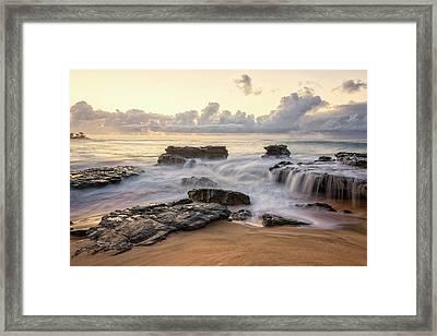 Sandy Beach Sunrise 3 - Oahu Hawaii Framed Print by Brian Harig