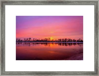 Sandy Chute Sunset Framed Print